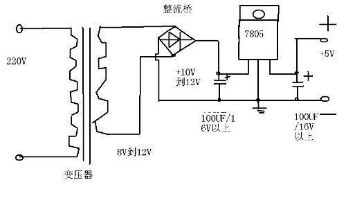 单片机的电源可以直接选5v的稳压器,现在这个特别多,包括usb充电器线