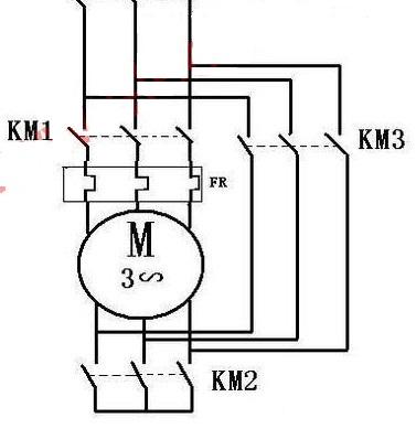 plc接线图:左边输入,右边输出那种,两种方式控制电机星三角启动(自动