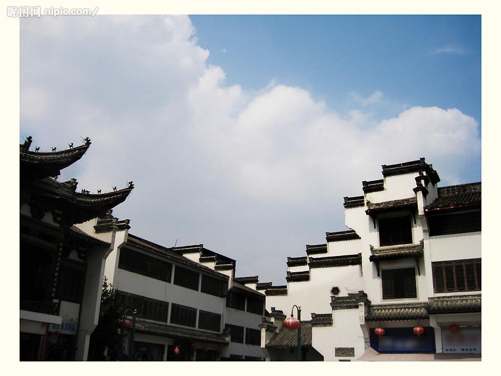 比较有代表性的建筑如徽派建筑.