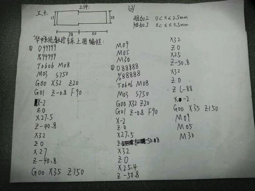 """关于""""华中""""系统数控车床加工编程图片"""