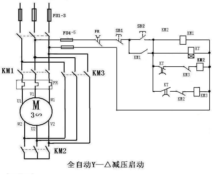 三相异步电动机的星形三角形降压启动控制电路怎么接