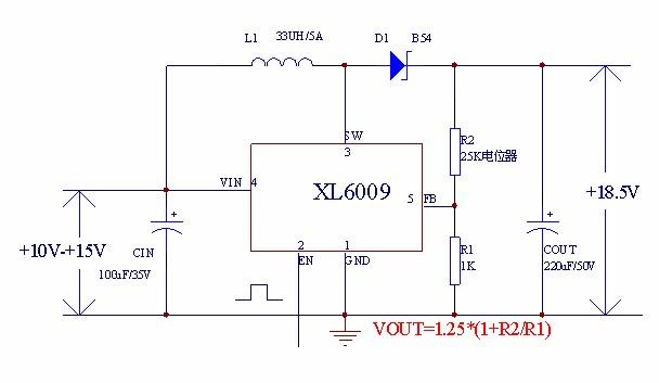 xl6009电路图解析?