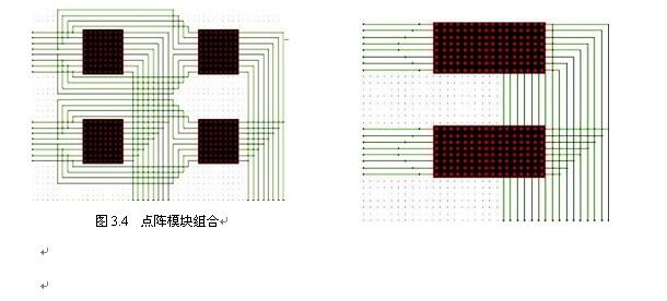 proteus上如何用8*8的点阵组成16*16的点阵
