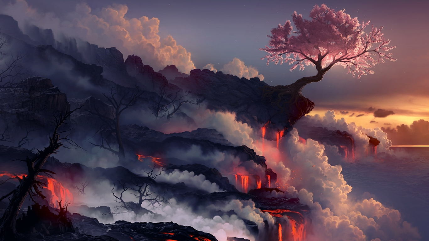 背景 壁纸 风景 火山 桌面 1366_768