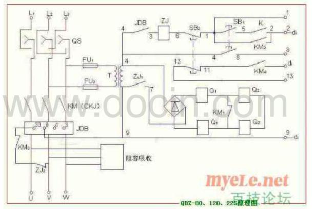 真空接触器排线顺序出错(调整) 八·启动后无法停止 原因: 1.