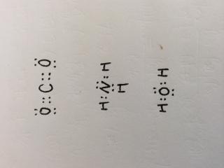 co2,nh3,h2o的电子式怎么写 发图图片