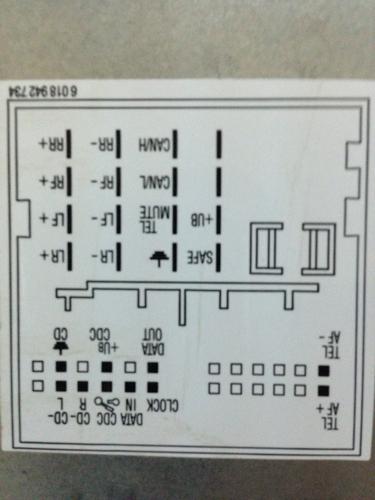 车载cd机接线图.有高人知道咋接线的吗,那个是电源接线头