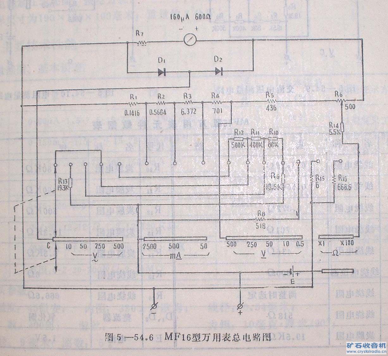 最简单的万用表电路图_百度知道