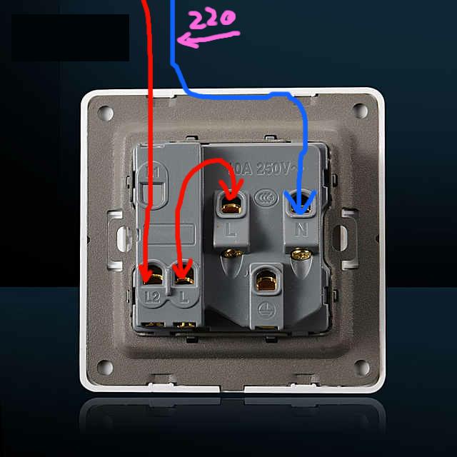 一开五孔接线图,两根线,开关补控制插座