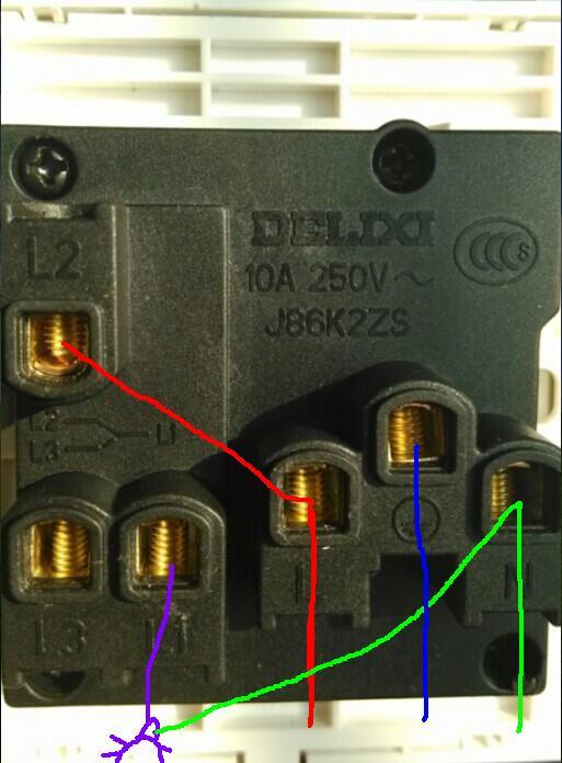 一开五孔插座接线图,开关,插座都是独立的接法,说的详细点.