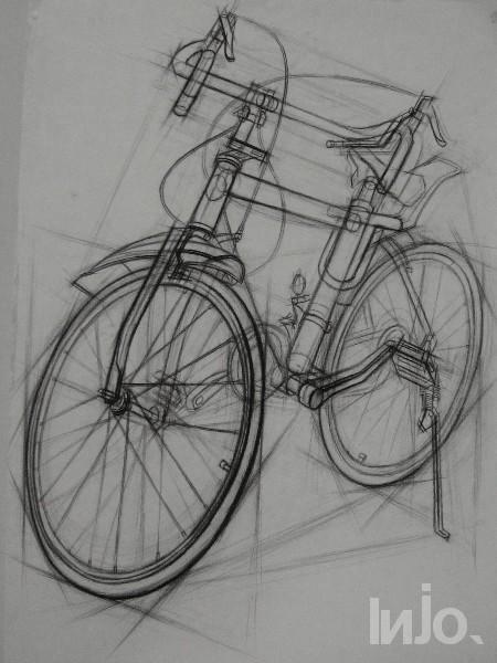 素描考级画自行车,简单些可以画结构素描.能力够的话就画明暗素描.