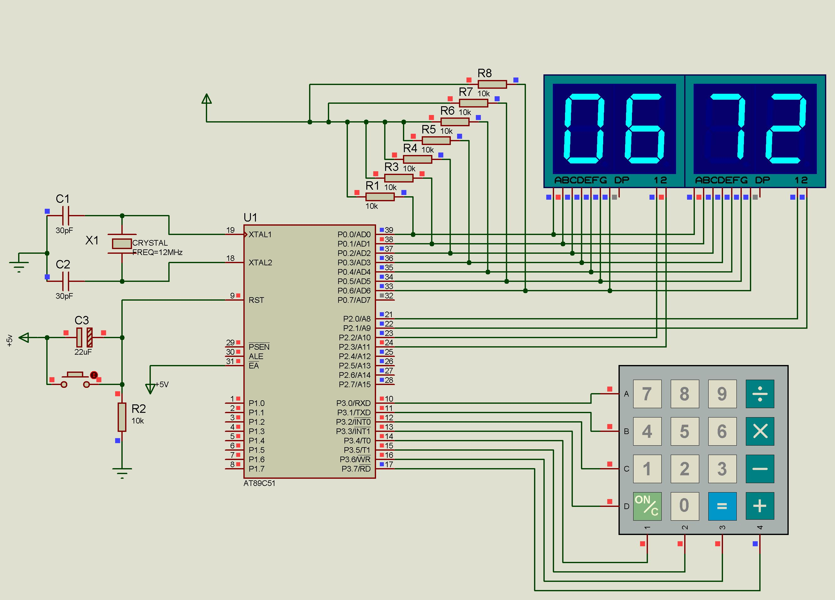 用89c51单片机设计4*4矩阵式键盘计算器程序 要汇编的 求解!