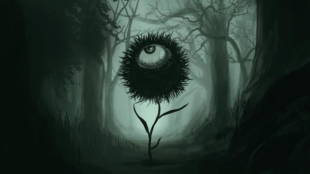 求恶之华,那只黑色的眼睛图片,不要模糊的