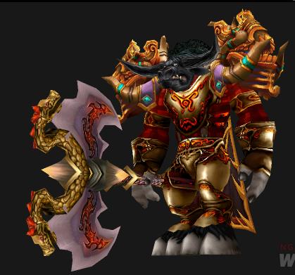 兽人男性战士幻化闪亮钢铁护肩,(这个图上除了肩部,武器,其余的请告诉