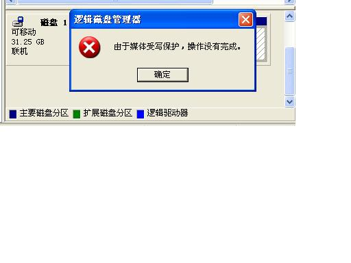 windows无法完成格式化,这张磁盘有写保护?怎么把u盘弄好?求高手!