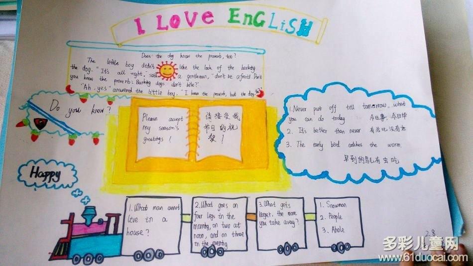 英语手抄报图片简单又漂亮小学3年级大全?