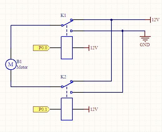 求:单片机和两个继电器控制12v直流电机正反转,希望有