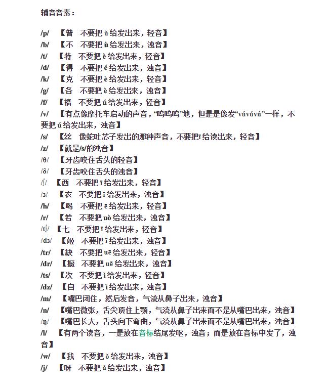 谁能帮我做一张英语音标表,一定一定要中文谐音!谢谢了