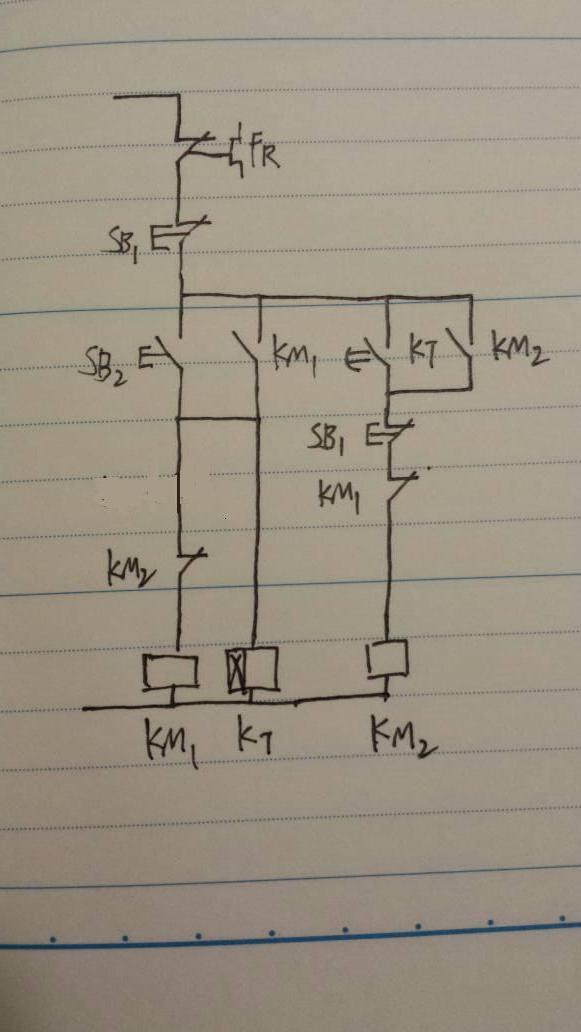 我有一个关于时间继电器的问题,通电延时,时间一到,常闭断开,常开闭合