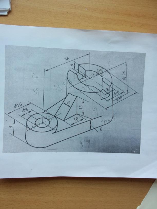 机械制图的三视图图片