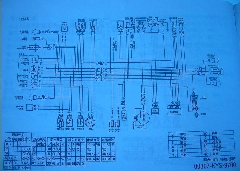 五羊本田佳颖125t一3b踏板车电路图