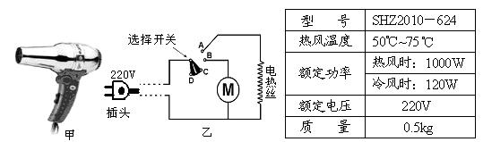 吹风机的电路图