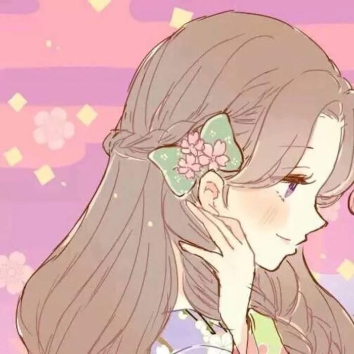 高冷动漫女生侧脸图片.