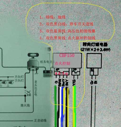 摩托车点火器的工作原理是点火器与传感器配合工作来确定火花塞的跳