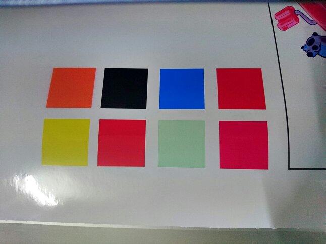 罗兰户外写真机六色墨水,打印时出现飞墨,奇怪的是打印其他颜色完全没