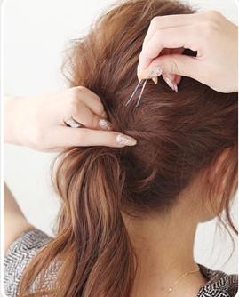 中学生发型图片女中长发编发教程