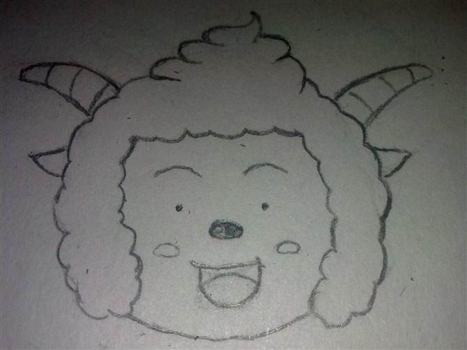 求懒羊羊素描