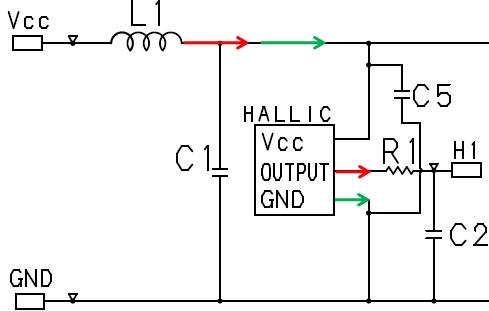 附件图片是电路图,电流方向是红色箭头方向还是绿色箭头方向?