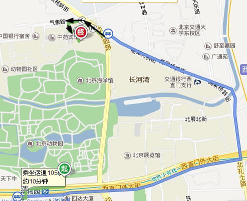 北京地铁4号线,动物园站下车后怎么到动物园北门?