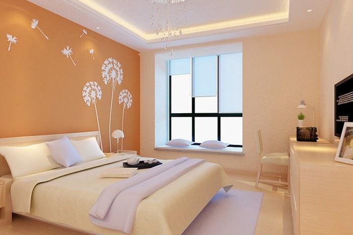 主卧米黄色的硅澡泥,床头背景是白色框框,框内做什么颜色的硅藻泥?