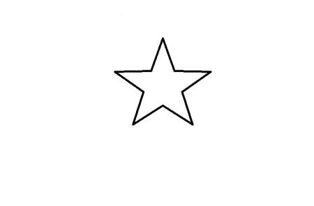 用直线画五角星有几条线段图片