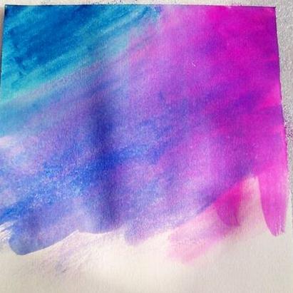 星空图片手绘简易颜料