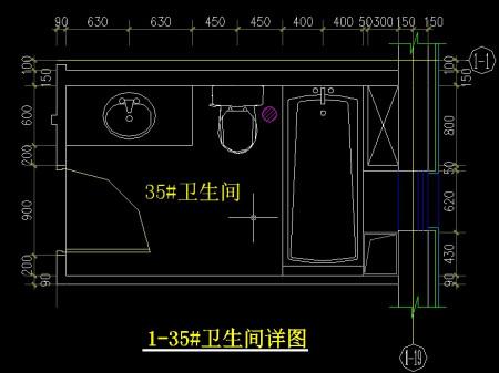 求cad厨房平面图有尺寸的卫生间也行