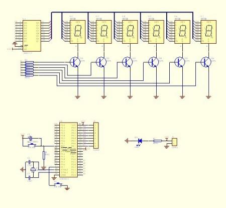 最小系统及外围接口,显示(基本硬件线路图)