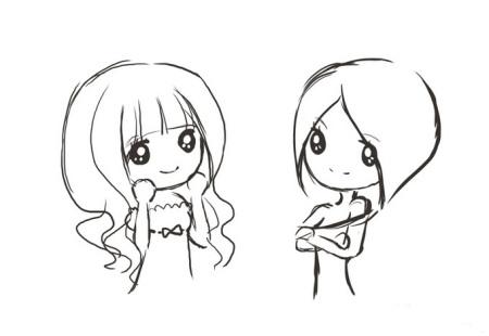 女孩的简笔画(图片)