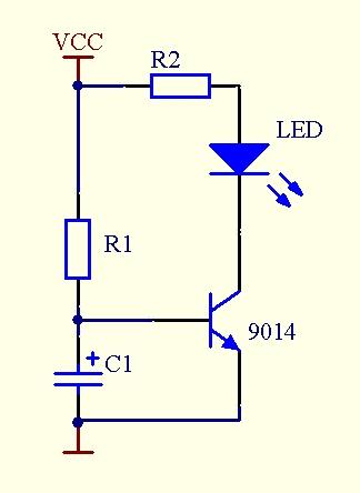 如何制作一个最简单的延时开启led灯的电路呢?