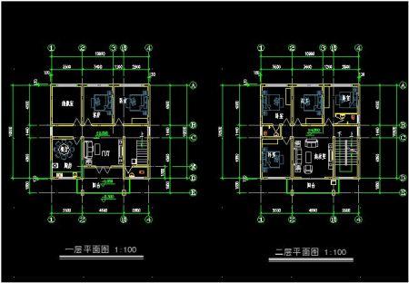 求10米x10米的2层自建房设计图