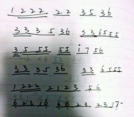 鹿晗《勋章》简谱数字,就是普通的那种乐谱就好啦