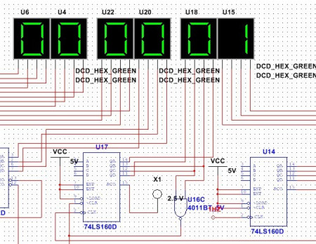 multisim怎么设计bcd码转换显示器电路