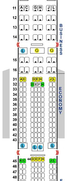 国航ca173 北京直飞悉尼 座位35j在什么地方 最好有个