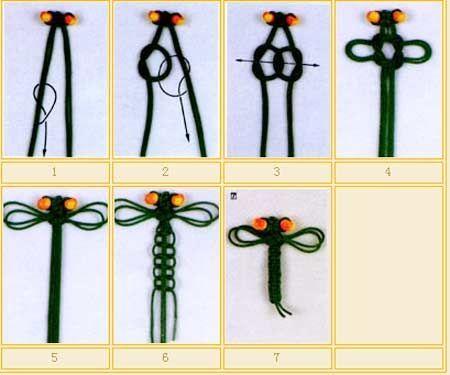 手工编织蜻蜓结也是现在人们所流行的关注点,下面图解编织蜻蜓结方法