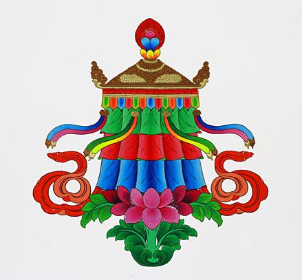 西藏吉祥八宝图的吉祥结