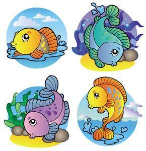 多上传些kt板可爱卡通鱼的图片