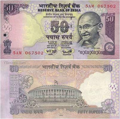 印度的纸币有一些什么面值的?