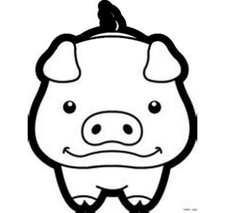 财神猪卡通简笔画