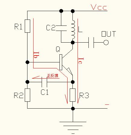 三极管进入开关状态), 如此周如复始, 电路就振荡起来(频率越来越快)